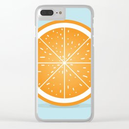 Orange Clear iPhone Case