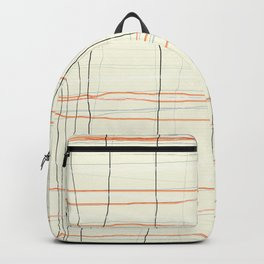 Straight lines with a twist no. 3 Backpack