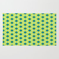 green pattern Area & Throw Rugs featuring Pattern green by LoRo  Art & Pictures
