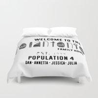 custom Duvet Covers featuring Custom Pillow by Mia & Booboo