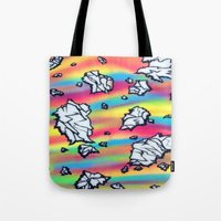 breaking Tote Bags featuring Breaking by Taylor deVille