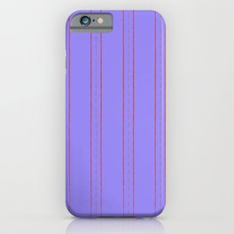 Simple design. Lines on an violet background. iPhone Case