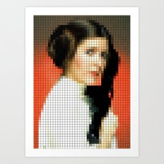 Princess Leia with Blaster Art Print