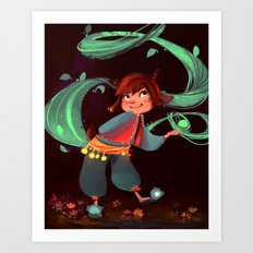 Little magic in the woods Art Print
