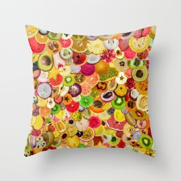Fruit Madness (All The Fruits) Throw Pillow