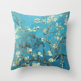 almond blossom van gogh Throw Pillow
