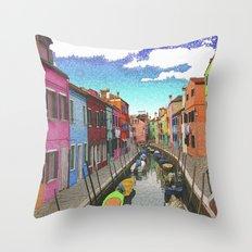 Village colors Throw Pillow