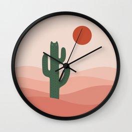 Cat Landscape 84: Cat-tus Wall Clock