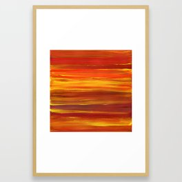 Sunset stratum Framed Art Print