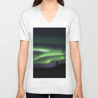 northern lights V-neck T-shirts featuring Northern Lights by Pamela Barron