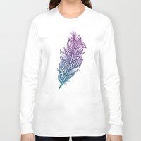 supreme Long Sleeve T-shirts featuring Supreme Plumage by Rachel Caldwell