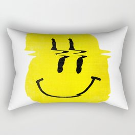 Smiley Glitch Rectangular Pillow