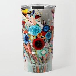 Rupydetequila Vase with flowers - Still Life Floral 2018 Travel Mug