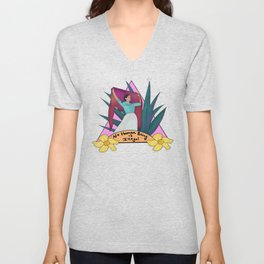 No Human is Illegal Unisex V-Neck