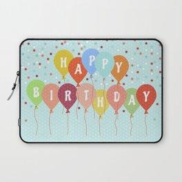 Colorful Birthday card Laptop Sleeve