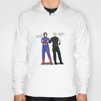 bucky barnes Hoodies featuring Steve/Bucky Costume switch up by TEAM JUSTICE ink.