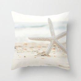 Hello Starfish Throw Pillow