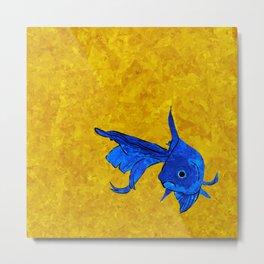 A fish! A fish! A fishy... OH!! Metal Print