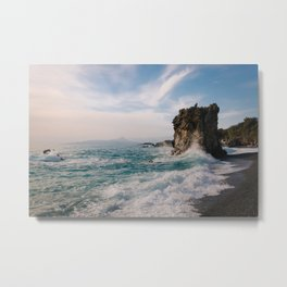 Marina di Maratea - Splashes Metal Print