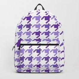 AFE Violet Houndstooth Pattern Backpack