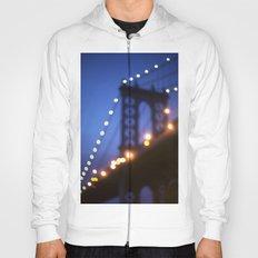 Manhattan Bridge at Night Hoody