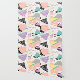80s / 90s RETRO ABSTRACT PASTEL SHAPE PATTERN Wallpaper