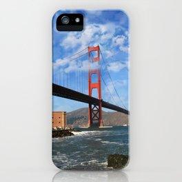 California Republic Bear in the Clouds of the Golden Gate Bridge iPhone Case