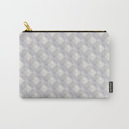 Light purple rhombuses. Carry-All Pouch