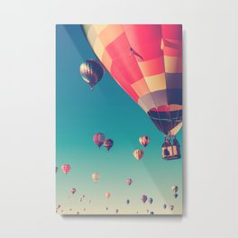 Balloons in the summer sky Metal Print