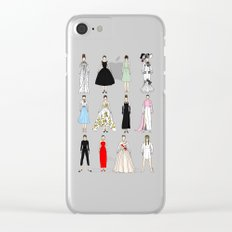 Audrey Fashion Vintage Retro in Cream Clear iPhone Case