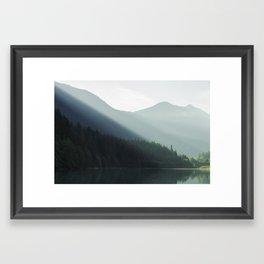 Shady Mountain Lake Framed Art Print