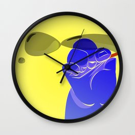 hand and bubbles Wall Clock