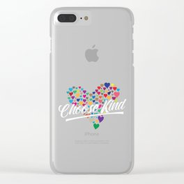 Choose Kind - Kindness - Anti - Bullying Clear iPhone Case