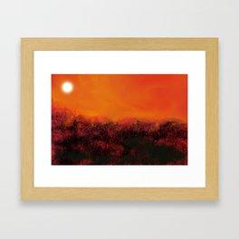 """""""The Burning Fields"""" Digital Painting // Fine Art Print Framed Art Print"""
