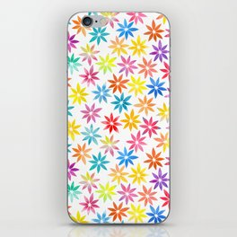 Vibrant Colors Floral Pattern iPhone Skin