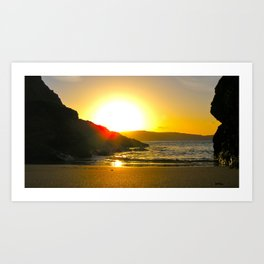Sunrise in Salcombe Art Print