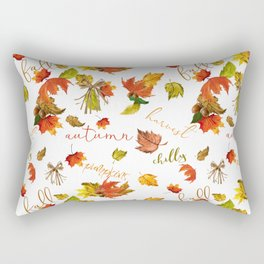 Autumn Leaves Hello Fall! Rectangular Pillow