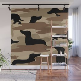 Desert Camo Weiner Dogg Wall Mural