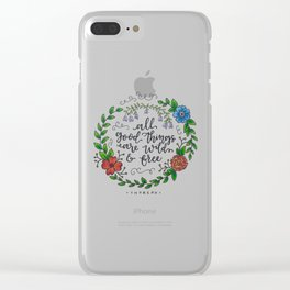 All Good Things Clear iPhone Case