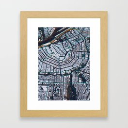 3D Amsterdam Map Framed Art Print