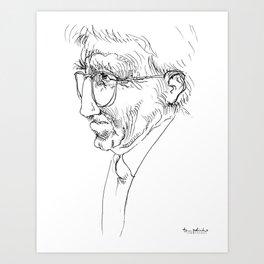Jurgen Habermas (philosopher) Art Print