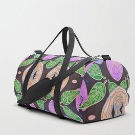 Black Flora Duffle Bag
