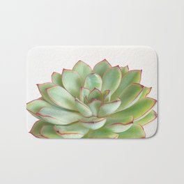 Green Succulent Bath Mat