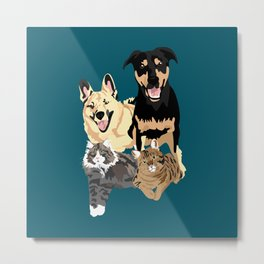 Drogo Bowser Beau and Olli Metal Print