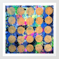 Bubble Wrap Abstract Pop Painting by Robert Erod HUGE COLORFUL ART Art Print