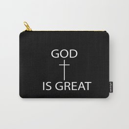 God Is Great Print Carry-All Pouch