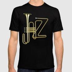 Virtuous Jazz MEDIUM Black Mens Fitted Tee