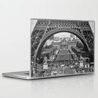 eiffel tower Laptop & iPad Skins featuring eiffel tower by AnnaGo