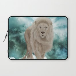 Awesome white lion in the sky Laptop Sleeve