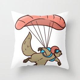 Skydiving Parachute Gift Sky Jump Throw Pillow